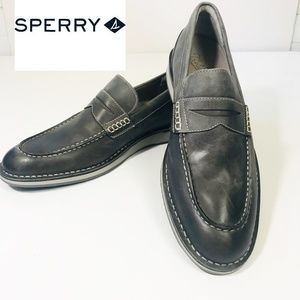 Sperry Gold Cup Gray Penny Loafer Leather, 12